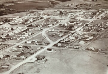 Historic aerial view of the Town of Hardisty